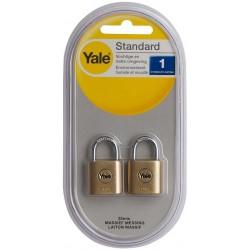 2x Cadenas de laiton de 25 mm Yale