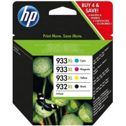 Pack Cartouche HP Noir 932XL / 933XL Grande Capacité Orignale / 4 Couleurs