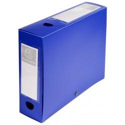 Boite de classement à pression Dos 80mm / Bleu