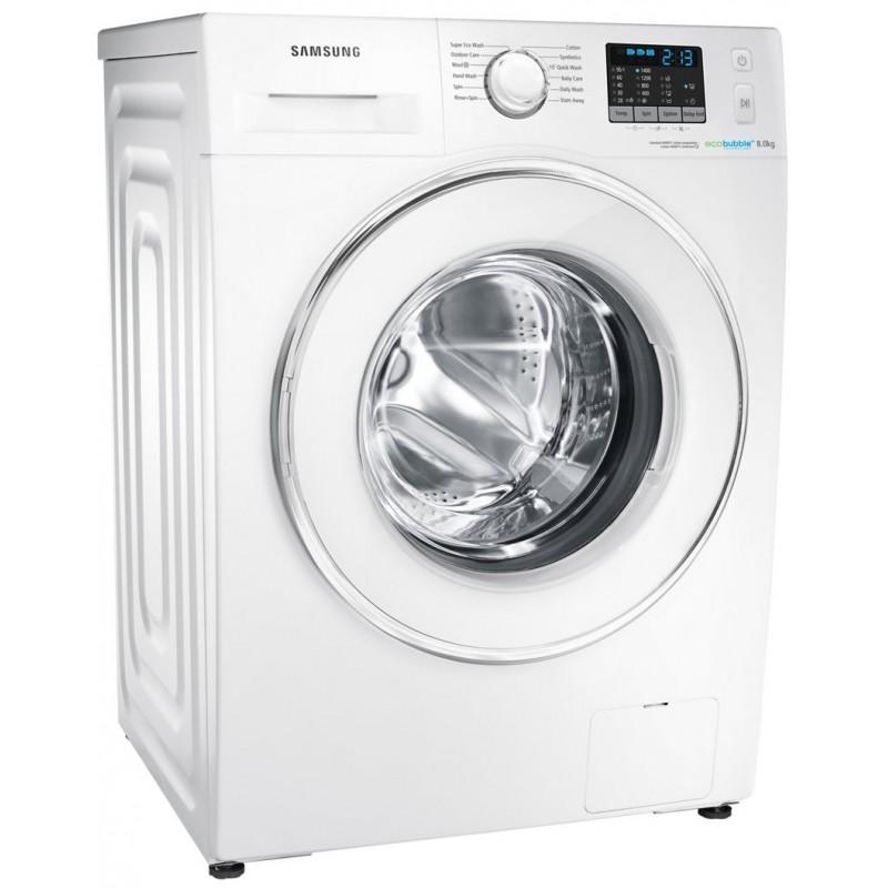 machine laver samsung eco bubble 8kg blanc. Black Bedroom Furniture Sets. Home Design Ideas