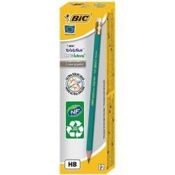 12x Crayons Graphite Evol BIC HB avec Gomme