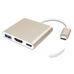 Adaptateur USB Type C vers HDMI / USB 3.0 / USB-C
