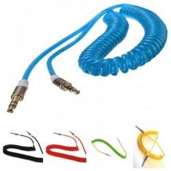 Câble Jack élastique Mâle / Mâle