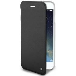 Housse avec coque transparente pour iPhone 7 / Noir