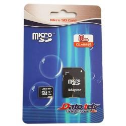 Carte Mémoire Micro SD avec Adaptateur DatoTek 8 Go