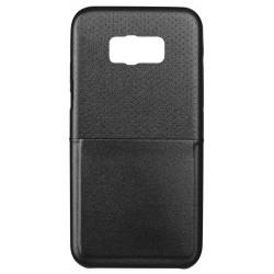 Etui TPU simili-cuir Ksix Pour Galaxy S8 Plus / Noir