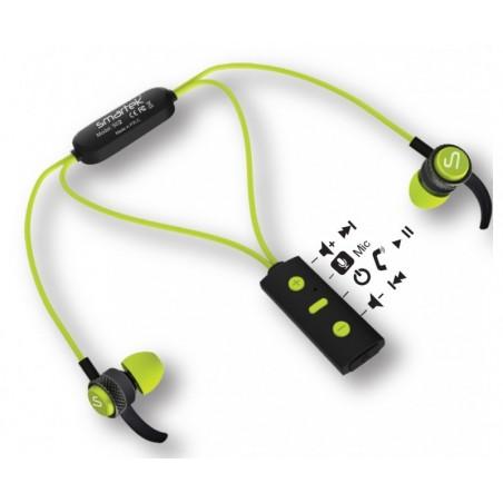Casque Bluetooth intra-auriculaires Smartek S02 / Vert