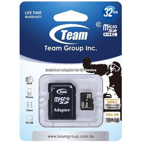 Carte mémoire TeamGroup Micro SD 32 Go Class10