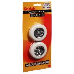 2x LED Push Light Kodak