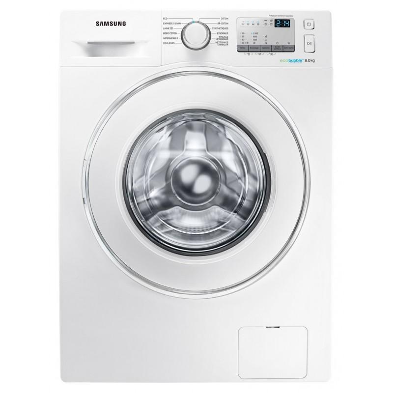 machine laver samsung eco bubble 8 kg blanc. Black Bedroom Furniture Sets. Home Design Ideas