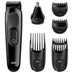 Kit tondeuse visage et cheveux 6-en-1 Braun MGK3020 / Noir