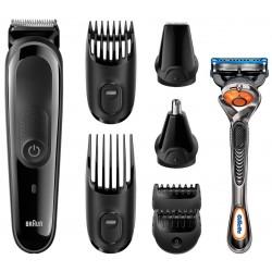 Kit tondeuse visage et cheveux 8-en-1 Braun MGK3060 / Noir