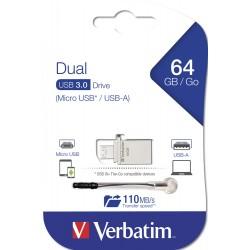 Clé USB Verbatim OTG USB 3.0 / 64 Go