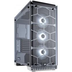 Boitier Gamer Corsair Crystal 570X Avec fenêtre et LED RGB Blanc