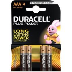 4x Piles Duracell AAA Alkaline LR03