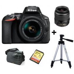 Réflex Numérique Nikon D5600 + Objectif Nikkor 18-55MM + Trépied + Sacoche + Carte mémoire