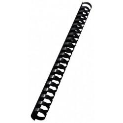 50 Reliures Spirale Plastique 19mm Noir