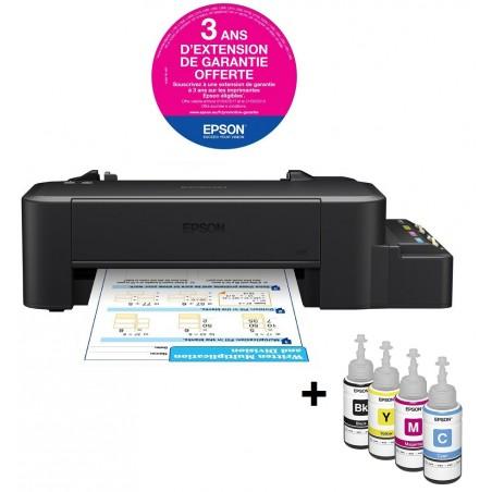 Imprimante à réservoir intégré Couleur Epson L120 + 4 Bouteilles / Garantie 3 ans