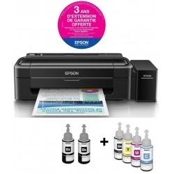 Imprimante à réservoir intégré Couleur Epson L310 + 6 Bouteilles d'encre