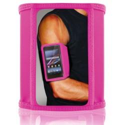 Brassard de sport Ksix pour Smartphone / Taille L / Rose