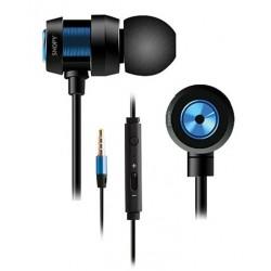 Ecouteur avec Micro Snopy SN-J01 / Noir & Bleu