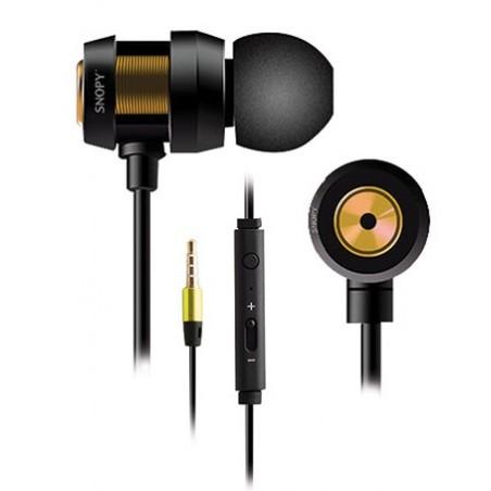 Ecouteur avec Micro Snopy SN-J01 / Noir & Gold