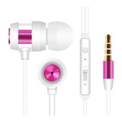 Ecouteur avec Micro Snopy SN-J01 / Blanc & Rose