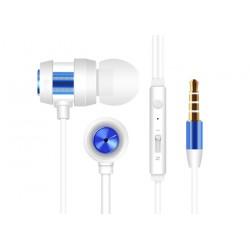 Ecouteur avec Micro Snopy SN-J01 / Blanc & Bleu