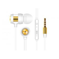 Ecouteur avec Micro Snopy SN-J01 / Blanc & Gold