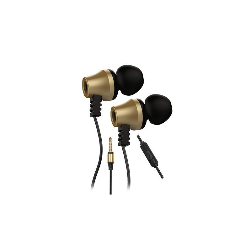 ecouteur avec micro snopy sn j02 thunderbird noir gold. Black Bedroom Furniture Sets. Home Design Ideas