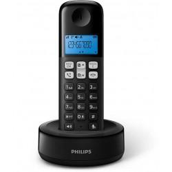 Téléphone Fixe Sans fil Philips D1311B/FR / Noir
