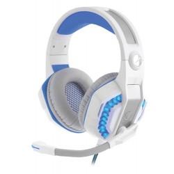Casque Micro Gaming USB Snopy Rampage Rivia G20 / Blanc & Bleu