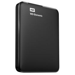 """Disque Dur Externe 2.5"""" Western Digital Elements 1 To / Noir / USB 3.0 / Sans Câble"""