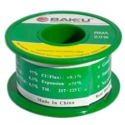 Fil d'étain bobine 50g / Diamètre 0.2mm