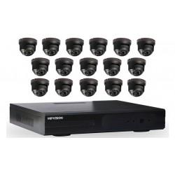 Kit DVR AHD 16 canaux + 16 Caméras Dôme 1MP