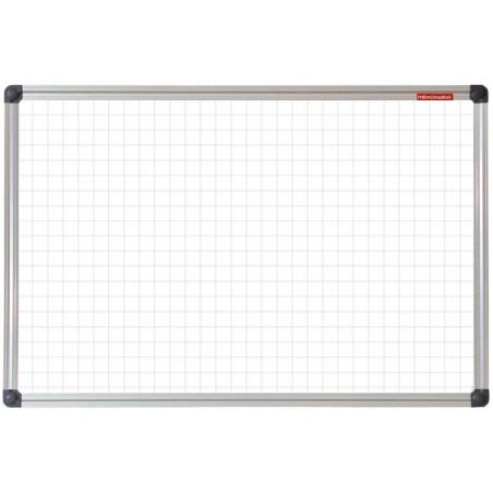 Tableau Blanc magnétique à carreaux 120 x 90