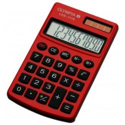 Calculatrice de poche 10 chiffres Olympia LCD 1110 / Rouge