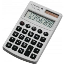 Calculatrice de poche 10 chiffres Olympia LCD 1110 / Blanc