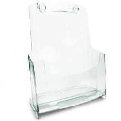 Porte Dépliants 1 compartiment A4 / Cristal