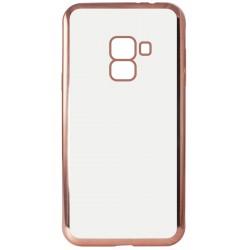 Etui Ksix Métal Flex pour Galaxy A8 Plus / Rose métallique