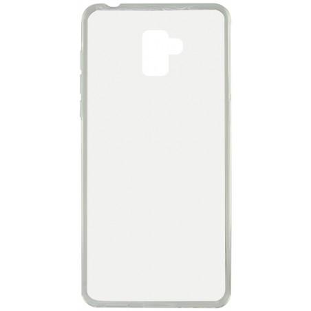 Etui Ksix Métal Flex pour Galaxy A8 2018 / Transparent