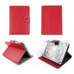 """Etui en cuir pour tablette 7"""" Rouge"""