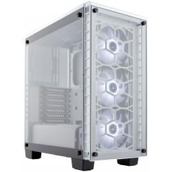 Boitier Gamer Corsair Crystal 460X Blanc Avec fenêtre et LED RGB