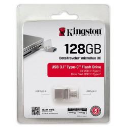 Clé USB Kingston DataTraveler microDuo 3C USB 3.1 & USB Type C / 128 Go