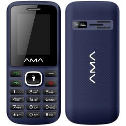 Téléphone Portable AMA P1 Plus / Double SIM / Noir & Bleu