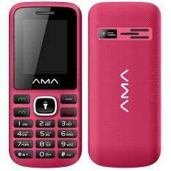 Téléphone Portable AMA P1 Plus / Double SIM / Noir & Rose