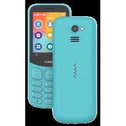 Téléphone Portable AMA P2  / Double SIM / Bleu Ciel
