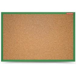 Tableau d'affichage en Liège cadre bois 60 x 40 / Vert