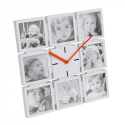 Horloge murale avec 8 Photos Platinet PZFC