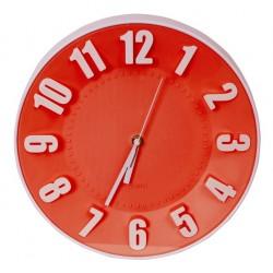 Horloge murale Platinet PZTRC / Rouge